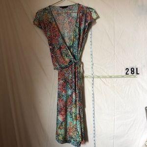 Mega colorful mid length dress